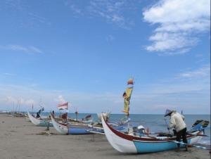 Nelayan di Pantai Ulakan