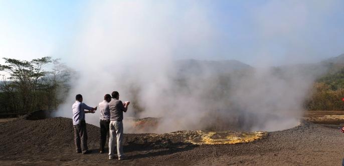 Salah satu sumber panas bumi di Mataloko - Bajawa
